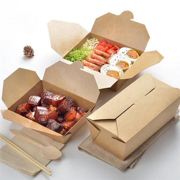 Hộp giấy đựng thức ăn nóng bằng chất liệu giấy tốt, đảm bảo vệ sinh